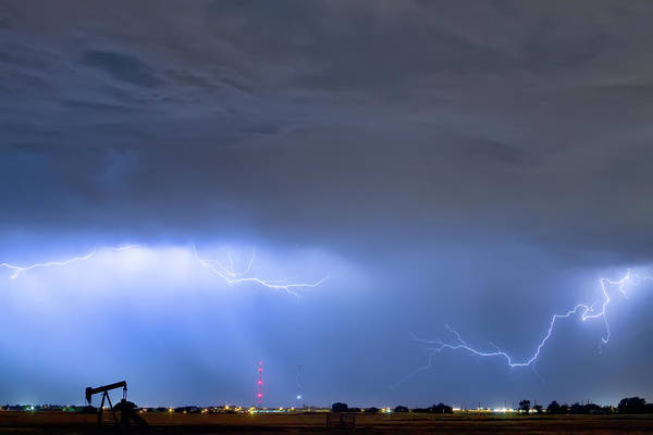 Photograph - Michelangelo Lightning Strikes Oil by James BO Insogna