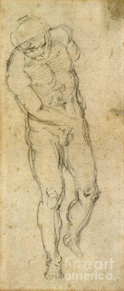 Painting - Michelangelo: Male Nude by Granger