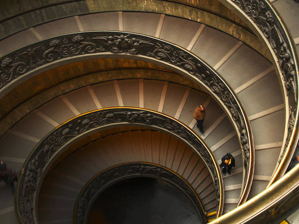 Photograph - Michelangelo's Spiral Stairs by Jed Holtzman