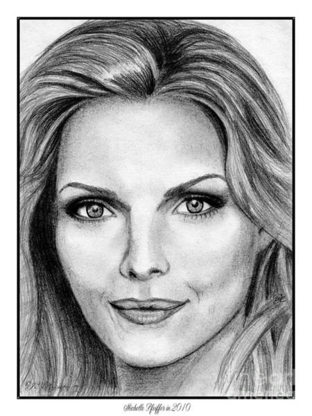 Globe Theatre Drawing - Michelle Pfeiffer In 2010 by J McCombie