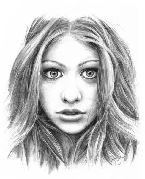 Options Drawing - Michelle Trachtenberg by Ryan Jones
