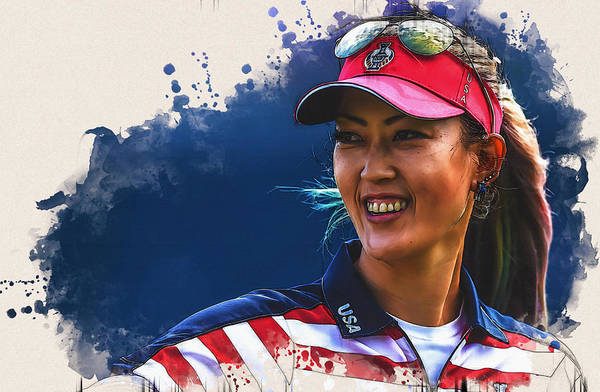 Lpga Digital Art - Michelle Wie During The Solheim Cup by Don Kuing