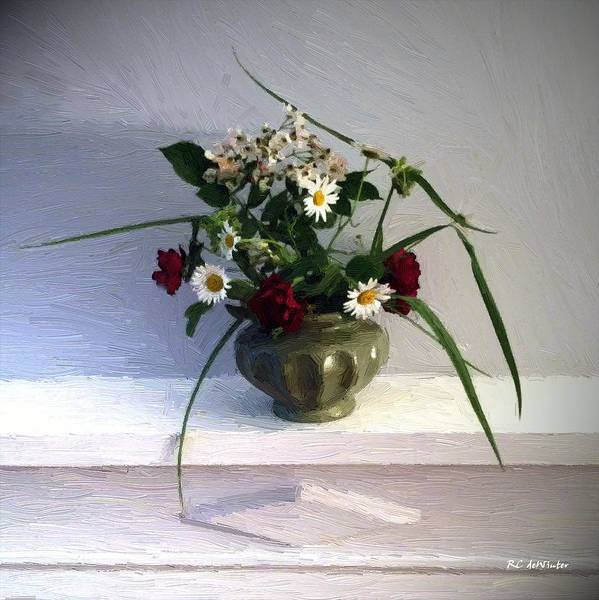 Painting - Michelle's Mantelpiece by RC DeWinter