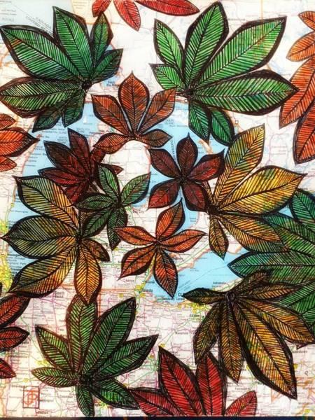 Michigan Drawing - Michigan Autumn by John Parish