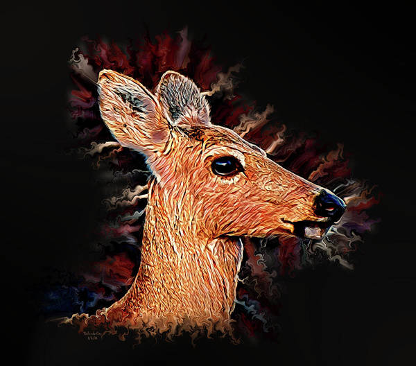 Digital Art - Michigan Doe by Artful Oasis