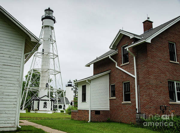 Bayfield Wall Art - Photograph - Michigan Island Lightstation Sailing Apostle Islands National Lakeshore Bayfield Wisconsin II by Wayne Moran
