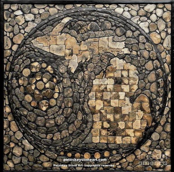 Stone Mixed Media - Michigan Petoskey Stone by Randall Libby