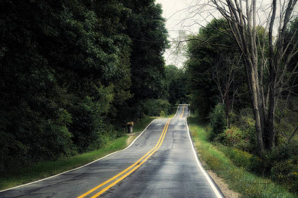 Wall Art - Photograph - Michigan Rural Roadway In September by Thomas Woolworth