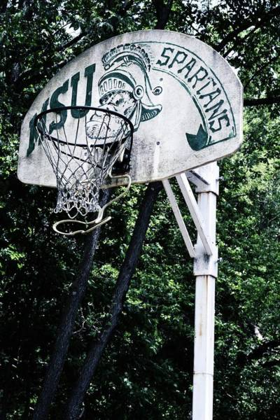 Photograph - Michigan State Practice Hoop by Michelle Calkins