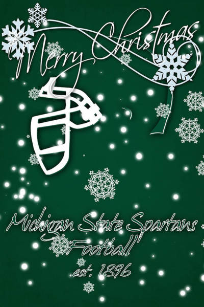 State College Photograph - Michigan State Spartans Christmas Card by Joe Hamilton