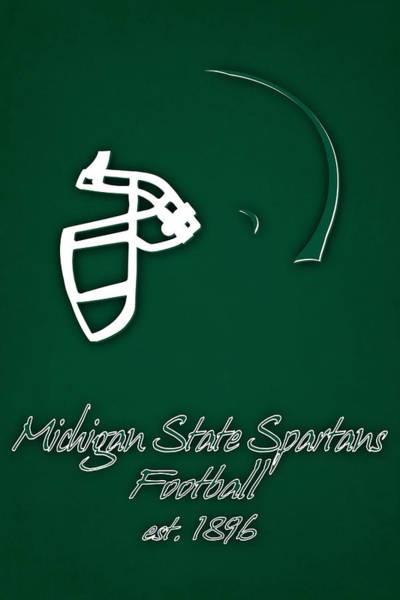 Spartan Wall Art - Photograph - Michigan State Spartans Helmet by Joe Hamilton