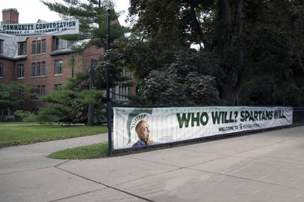Wall Art - Photograph - Michigan State University Who Will Signage by Thomas Woolworth