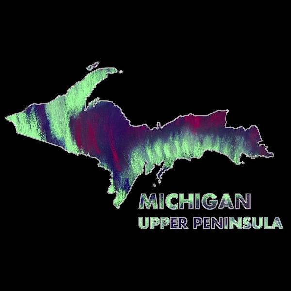 Digital Art - Michigan - Up - Northern Lights - Aurora Hunters by Anastasiya Malakhova