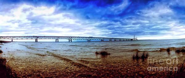 Photograph - Michigan Upper Peninsula Mackinaw Bridge  by Tom Jelen