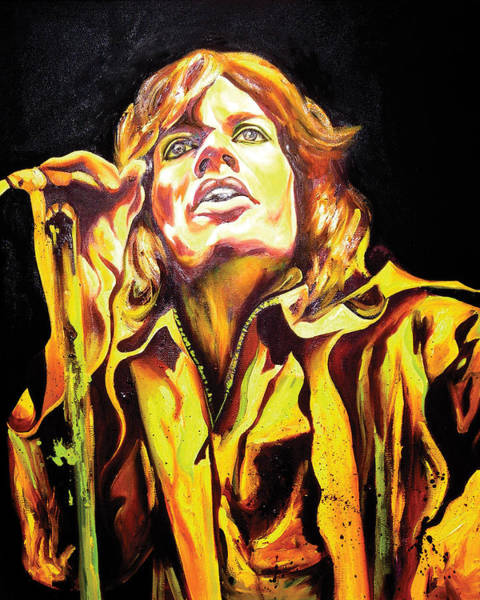 Rockstar Painting - Mick by Jacqueline DelBrocco