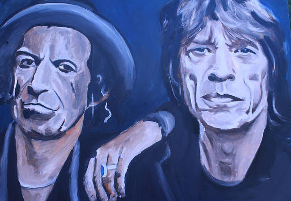 Wall Art - Painting - Mick Jagger And Keith Richards by Mikayla Ziegler