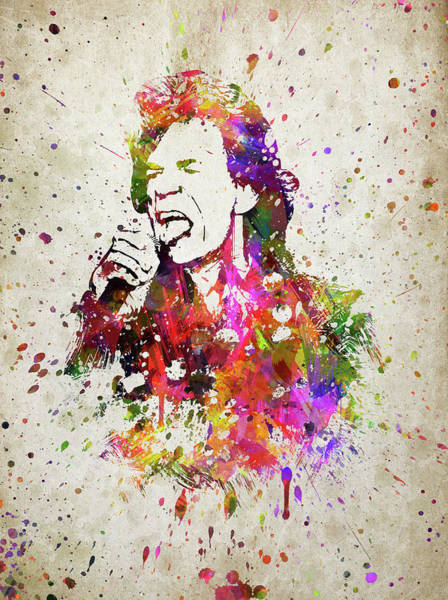 Wall Art - Digital Art - Mick Jagger In Color by Aged Pixel