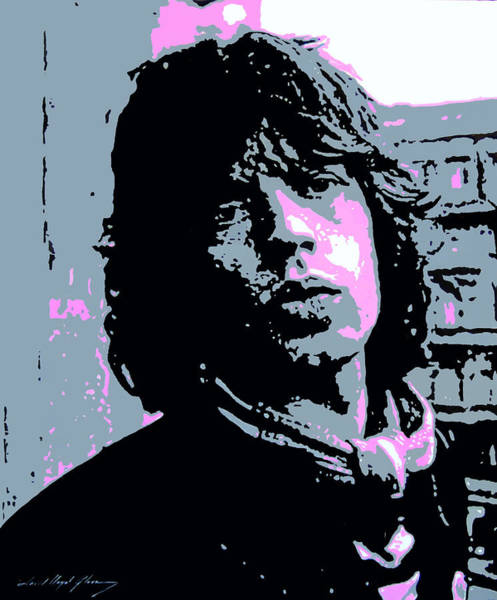 Rolling Stones Painting - Mick Jagger In London by David Lloyd Glover