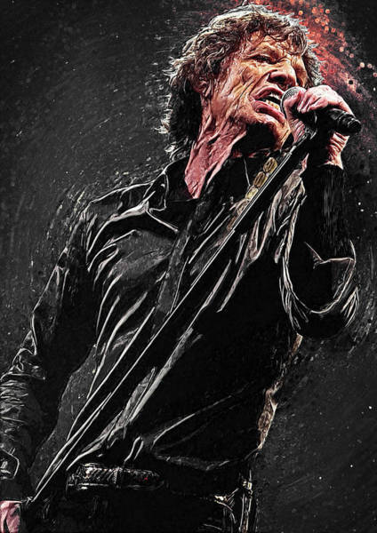 Wall Art - Digital Art - Mick Jagger by Zapista Zapista