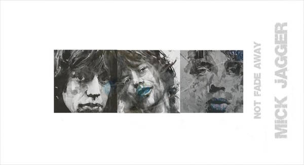Wall Art - Mixed Media - Mick Jagger Triptych by Paul Lovering