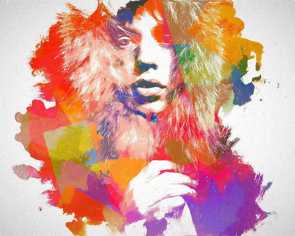 Wall Art - Painting - Mick Jagger Watercolor by Dan Sproul