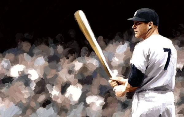 Mickey Mantle Wall Art - Painting - Mickey Mantle Signed Prints Available At Laartwork.com Coupon Code Kodak by Leon Jimenez