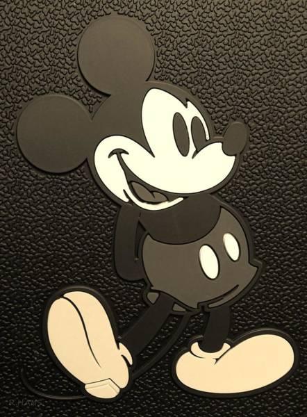 Walt Disney Word Photograph - Mickey Mat Sepia by Rob Hans