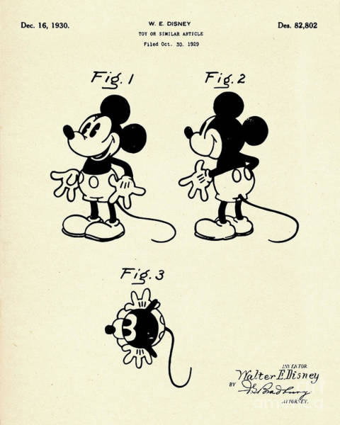 Similar Painting - Mickey Mouse Toy Or Similar Article-1930 by Pablo Romero
