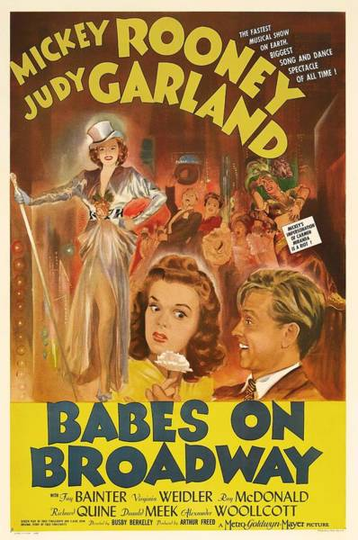 Babe Mixed Media - Mickey Rooney And Judy Garland - Babes On Broadway 1941 by Mountain Dreams