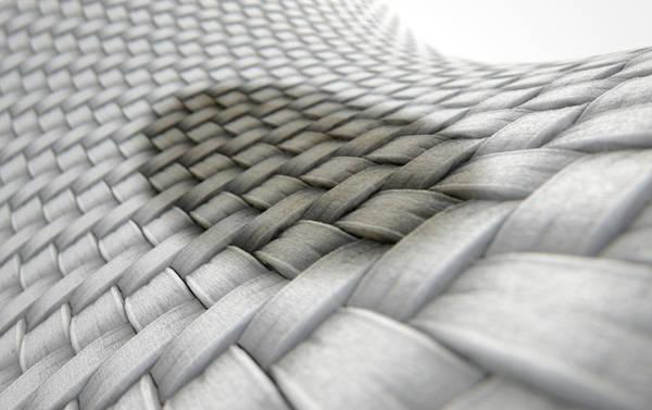 Cloth Digital Art - Micro Fabric Weave Stain by Allan Swart