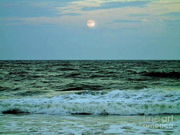 Photograph - Micro Moon At The Ocean by D Hackett