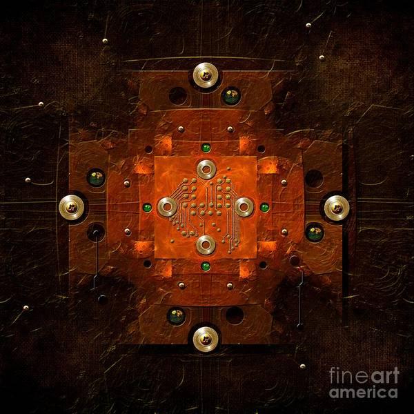 Digital Art - Microchip Mandala by Alexa Szlavics