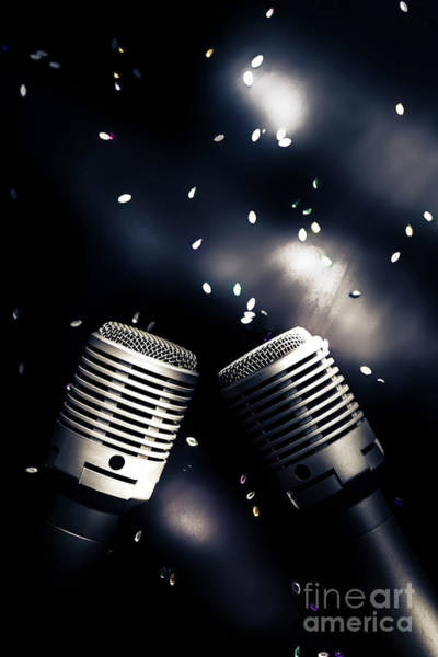 Microphone Photograph - Microphone Club by Jorgo Photography - Wall Art Gallery