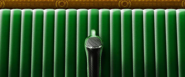 Behaviour Digital Art - Microphone In Condom And Green Couch. by Sergio Lacueva