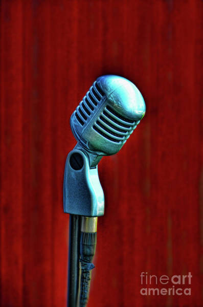 Wall Art - Photograph - Microphone by Jill Battaglia