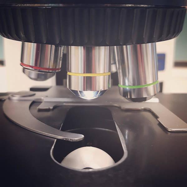 Diagnosis Wall Art - Photograph - Microscope by Tom Gowanlock