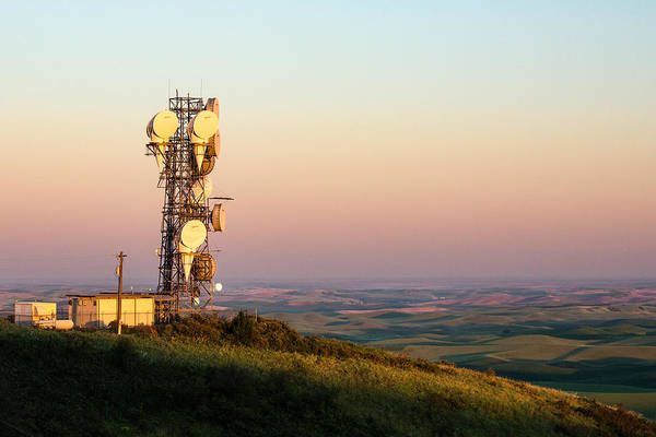 Palouse Photograph - Microwave Tower by Todd Klassy