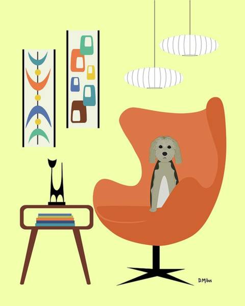 Digital Art - Mid Century Modern Dogs 3 by Donna Mibus