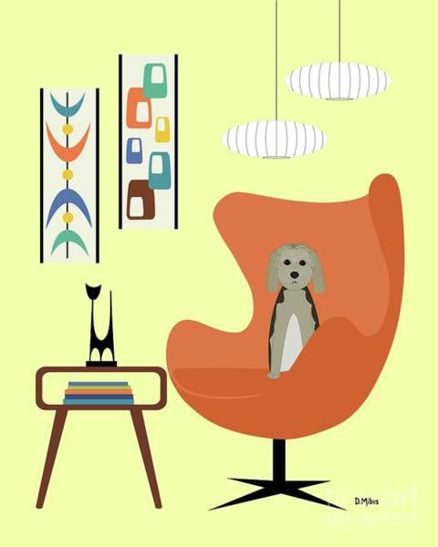 Digital Art - Mid Century Modern Dogs 3 by Donna Mibus