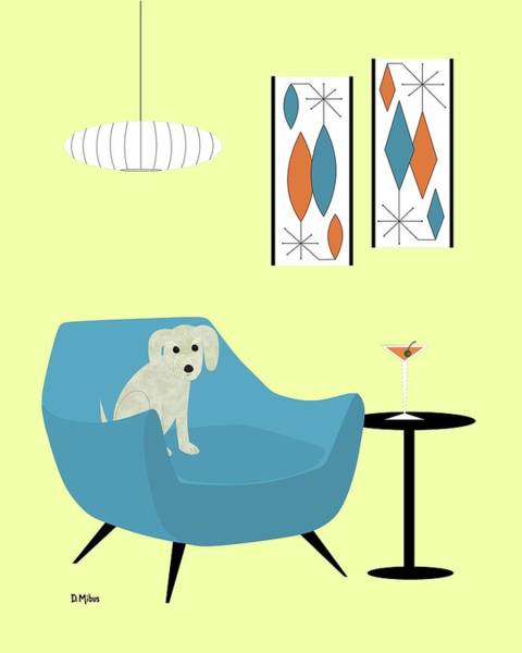 Digital Art - Mid Century Modern Dogs 4 by Donna Mibus
