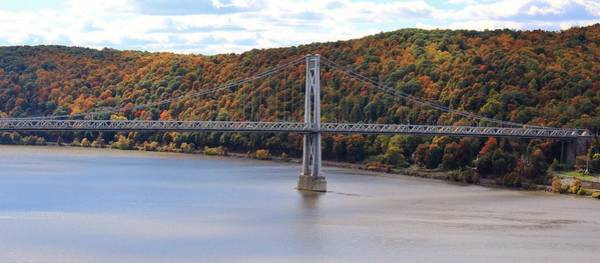 Mid Hudson Bridge In Autumn Art Print
