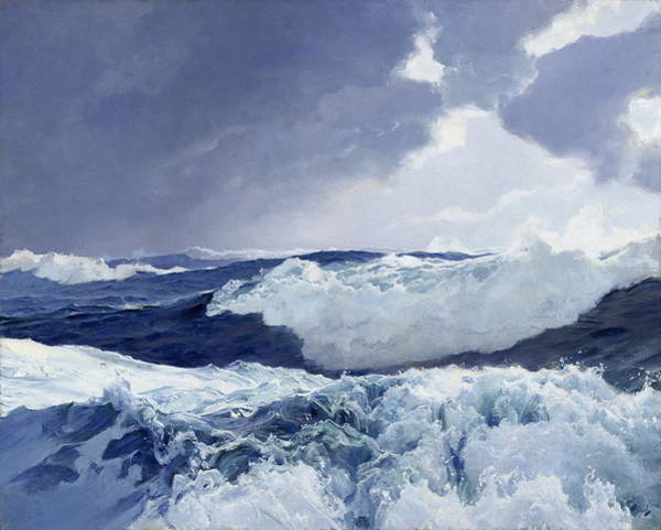 Sink Painting - Mid Ocean by Frederick Judd Waugh
