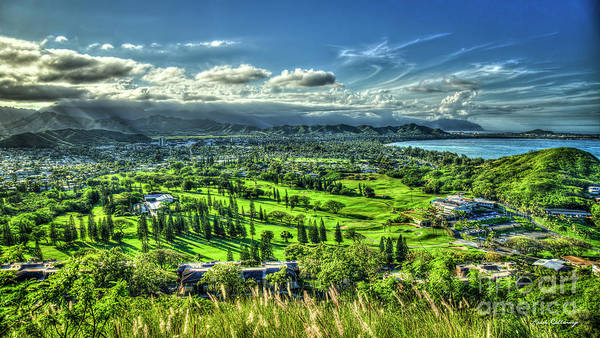Ohau Wall Art - Photograph - Mid Pacific Country Club Kailua Lanikai Pillbox Hike Oahu Hawaii Art by Reid Callaway