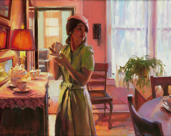 Wall Art - Painting - Midday Tea by Steve Henderson