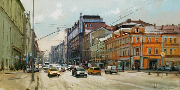 Railway Painting - Midday. Tver Stream. Tverskaya Zastava Square. by Alexey Shalaev