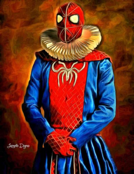 Mary Jane Watson Wall Art - Digital Art - Middle Ages Spider Man - Da by Leonardo Digenio