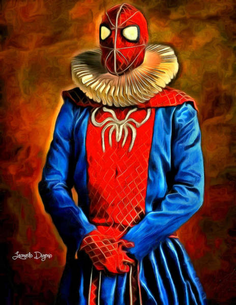 Mary Jane Watson Painting - Middle Ages Spider Man by Leonardo Digenio