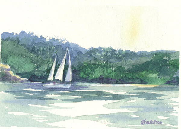 Painting - Middle Bass Sail by Judy Fischer Walton