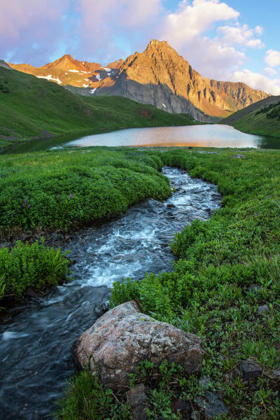 Photograph - Middle Blue Lake Vertical by Aaron Spong