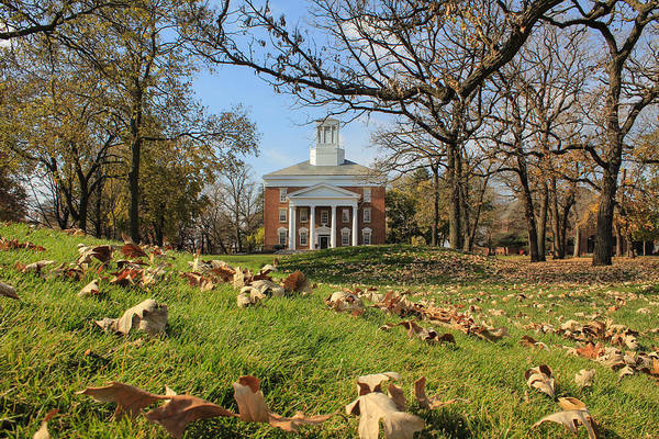 Middle College On An Autumn Day Art Print